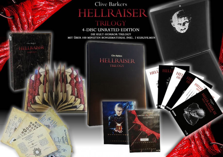Hellraiser - 1-3 Trilogy - Limited Lacquered Velvet Edition [Blu-ray+DVD]
