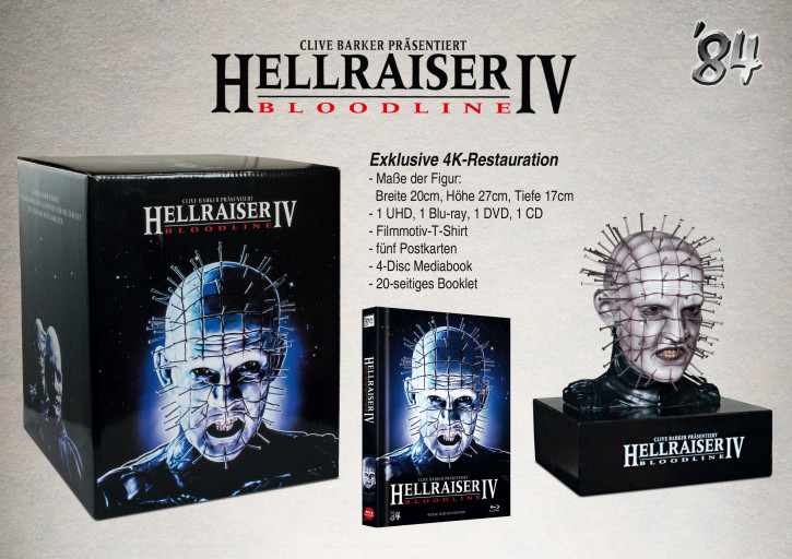Hellraiser IV Bloodline - 4-Disc Figur-Box [4K UHD Blu-ray+Blu-ray+DVD]