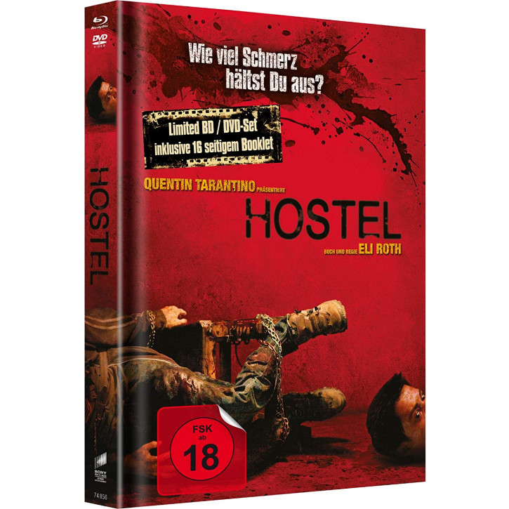 Hostel - Limited Mediabook Edition - Cover B (FSK 18 + Uncut BD) [Blu-ray+DVD]