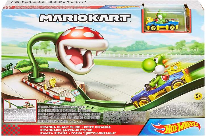 Hot Wheels GFY47 - Mario Kart Piranhapflanzen Rutsche Trackset