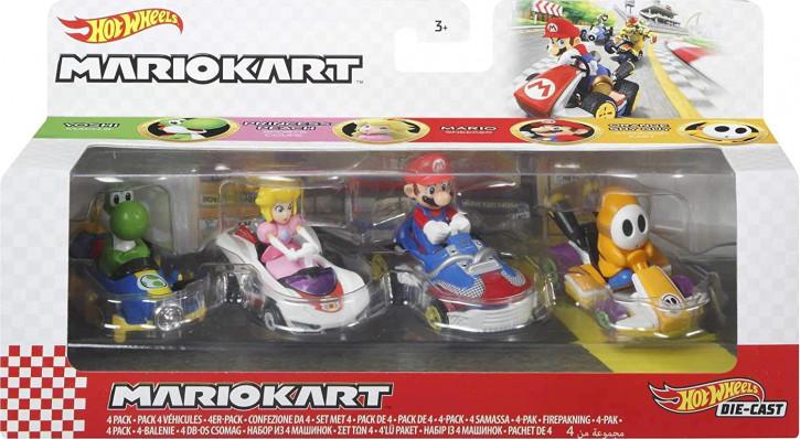 Hot Wheels GWB38 - Mario Kart - 4er-Fahrzeugsortiment #2