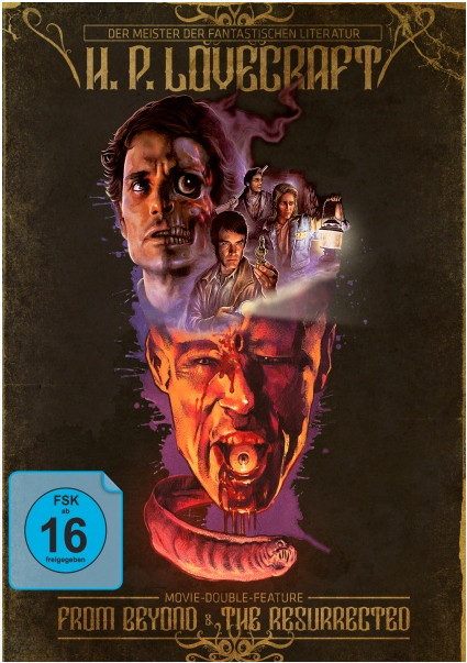 H. P. Lovecraft Movie Double Feature - From Beyond & The Resurrected - Mediabook [Blu-ray]