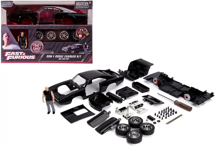 Jada Toys - Fast & Furious, 1970 Dodge Charger R/T, Build+Collect