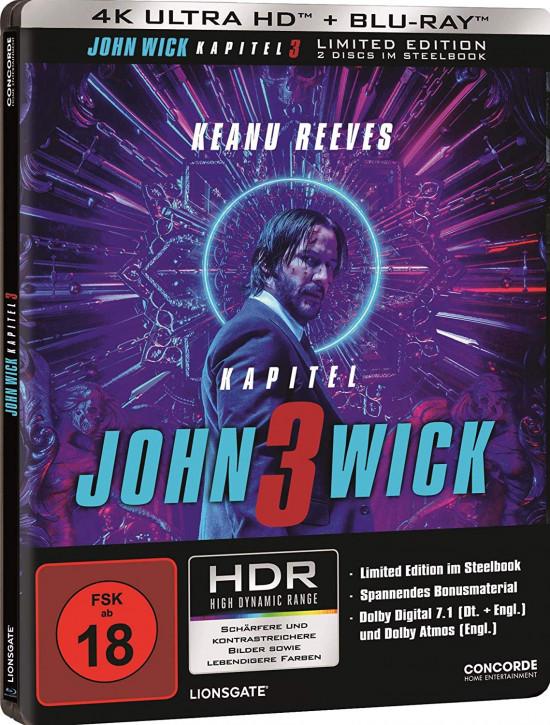 John Wick: Kapitel 3 - Limited Edition Steelbook [4K UHD Blu-ray]