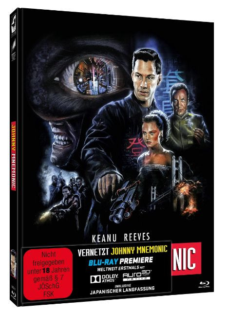 Johnny Mnemonic - Limited Mediabook Edition - Cover B [Blu-ray+DVD]