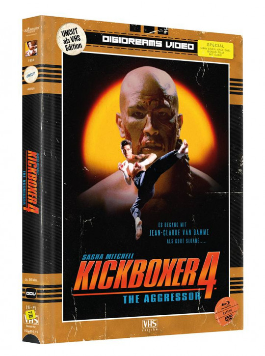 Kickboxer 4 - Limited Mediabook VHS Edition [Blu-ray+DVD]