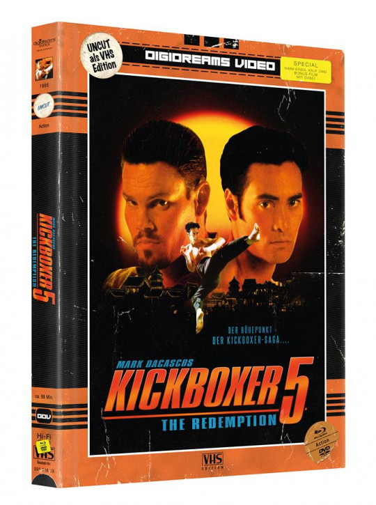 Kickboxer 5 - Limited Mediabook VHS Edition [Blu-ray+DVD]