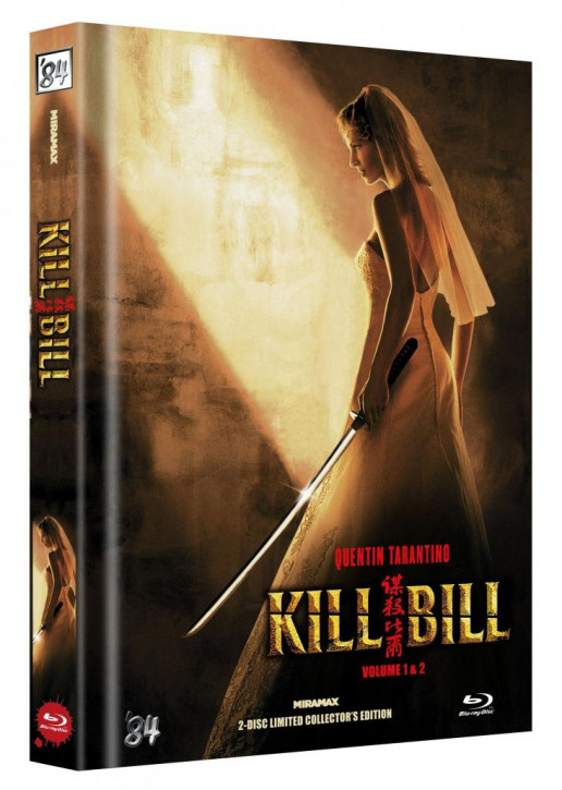 Kill Bill: Vol. 1+2 - Limited Collector's Edition - Cover B [Blu-ray]