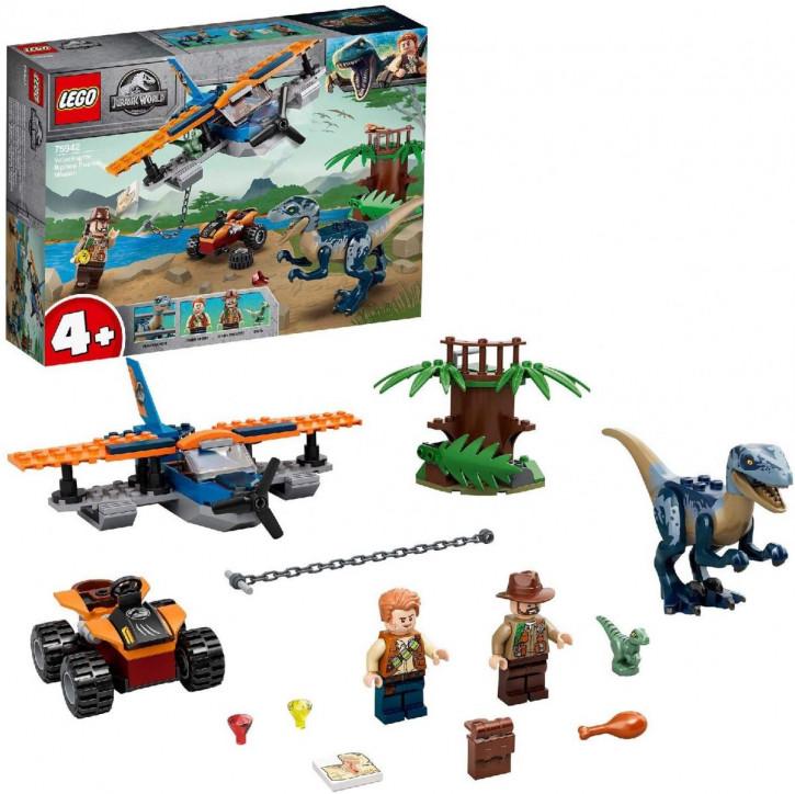 LEGO Jurassic World 75942 - Velociraptor: Rettungsmission mit dem Doppeldecker