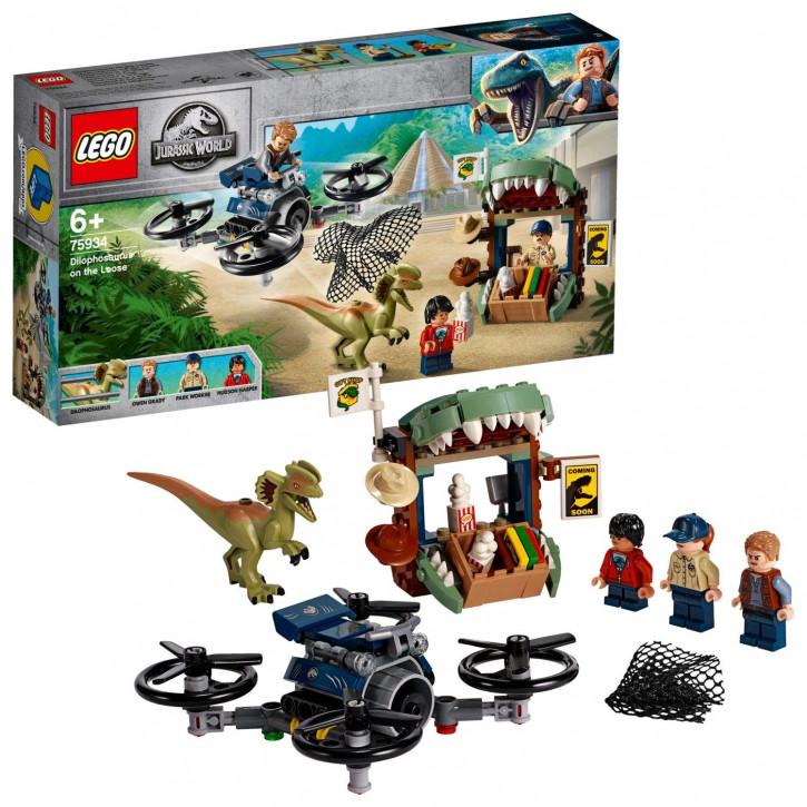 LEGO Jurassic World 75934 - Dilophosaurus auf der Flucht