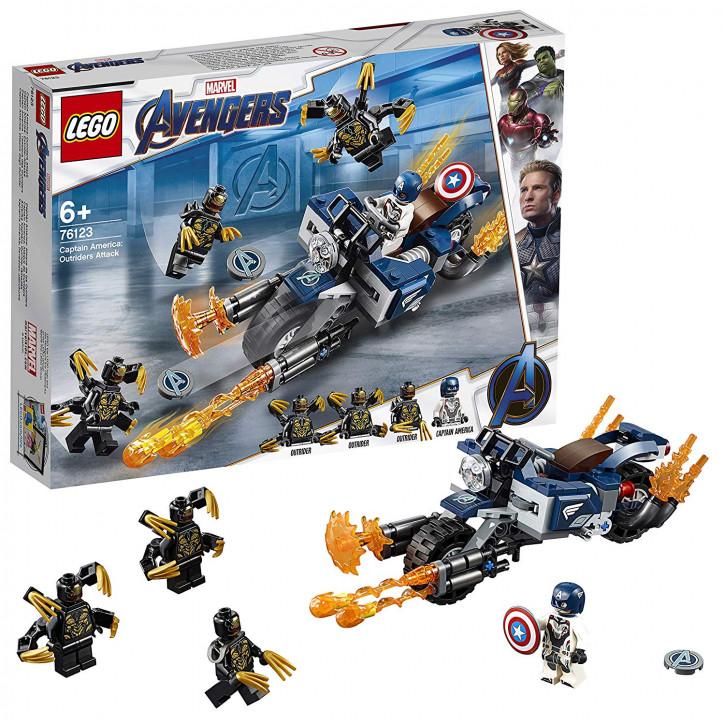 LEGO Marvel 76123 - Captain America: Outrider-Attacke