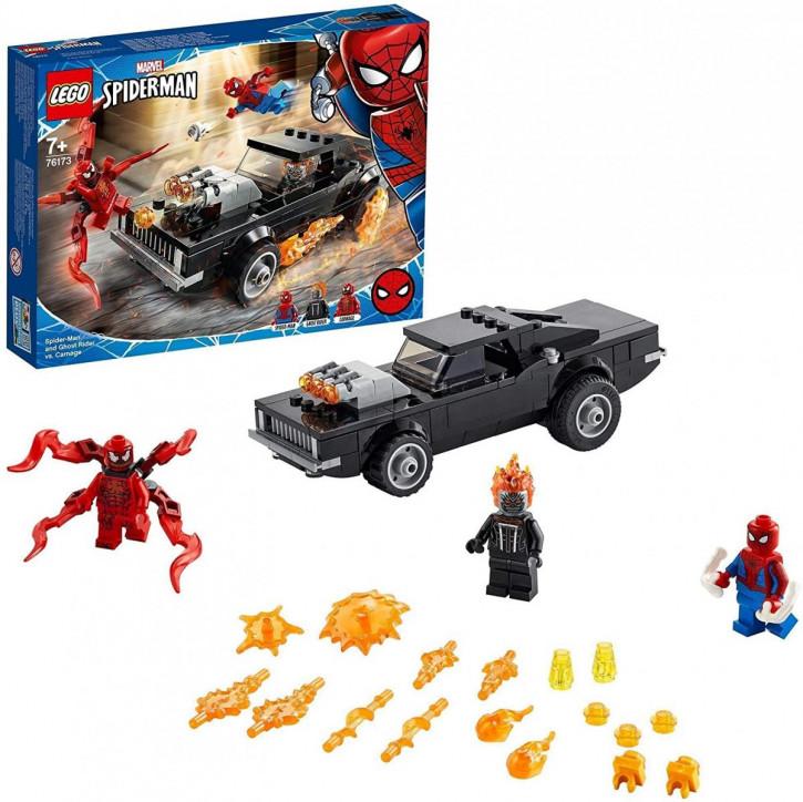 LEGO Marvel Spider-Man 76173 - Spider-Man und Ghost Rider vs. Carnage mit Spielzeugauto