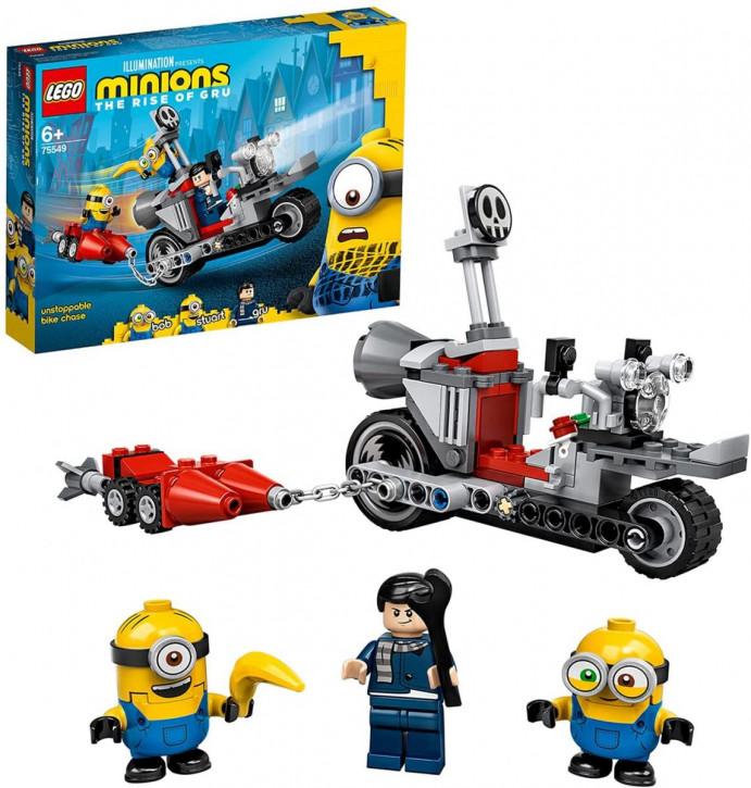 LEGO Minions 75549 - Unaufhaltsame Motorrad-Jagd