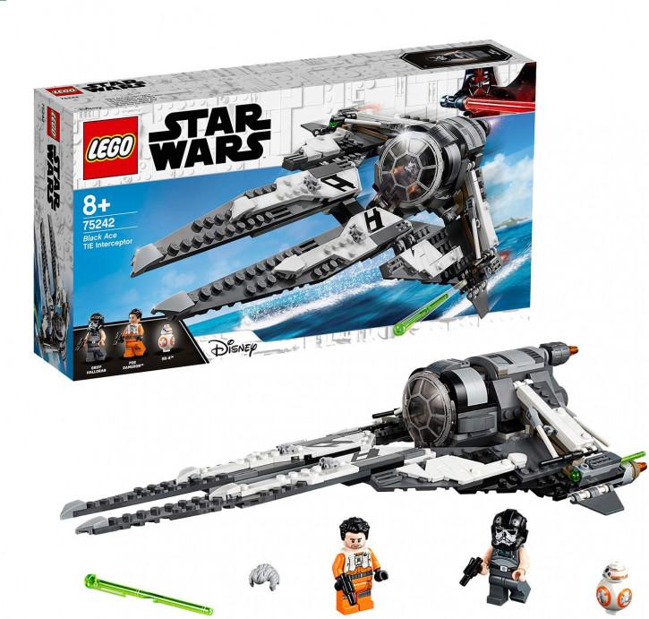 LEGO Star Wars 75242 - Resistance Tie Interceptor mit Allianz-Pilot