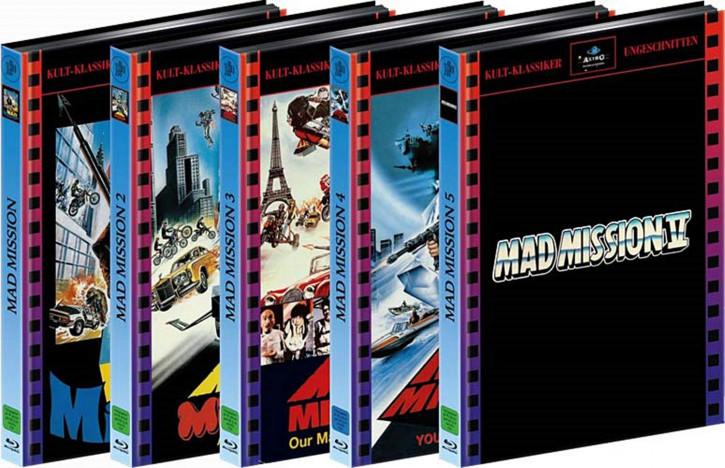 Mad Mission 1-5 - 5er Mediabook-Bundle [Blu-ray]