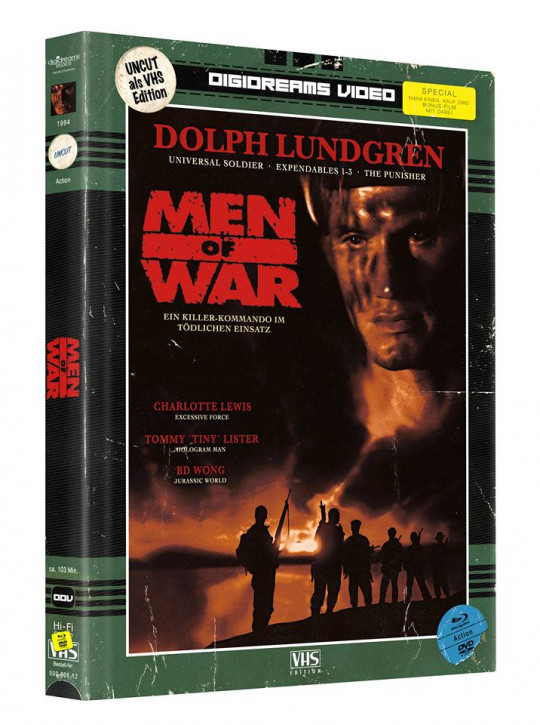 Men of War - Limited Mediabook VHS Edition [Blu-ray+DVD]