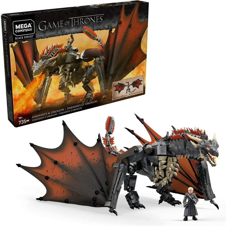 Mega Construx GKG97 - Game of Thrones - Daenerys und Drogon