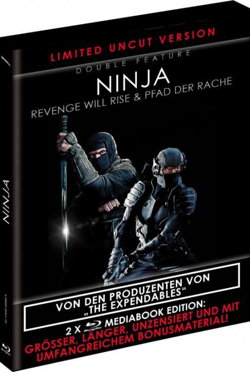 Ninja - Revenge will Rise & Pfad der Rache - Limited Black Book Edition (Double Feature) [Blu-ray]