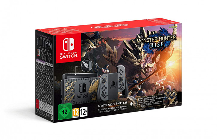 Nintendo Switch Konsole - Monster Hunter Rise Edition