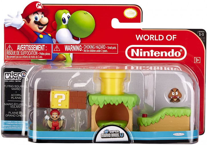 World Of Nintendo – Micro Land Acorn Plains With Flying Squirrel Mario