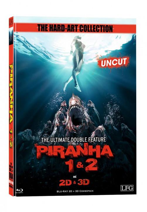 Piranha 1+2 - 2D +3D Mediabook - Cover B [Blu-ray]