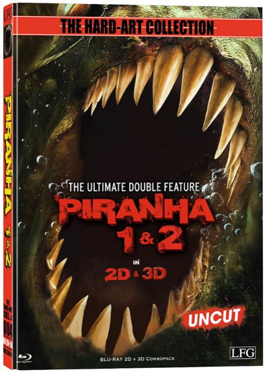 Piranha 1+2 - 2D +3D Mediabook - Cover D [Blu-ray]