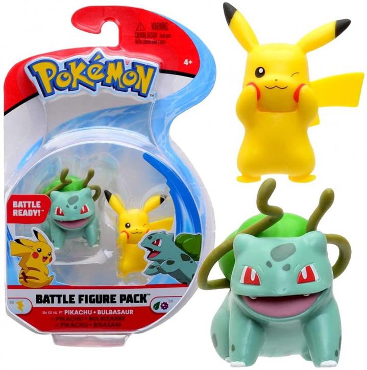 Pokemon Battle Figure Pack - Pikachu und Bisasam