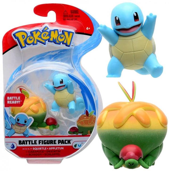 Pokemon Battle Figure Pack - Schiggy und Schlapfel