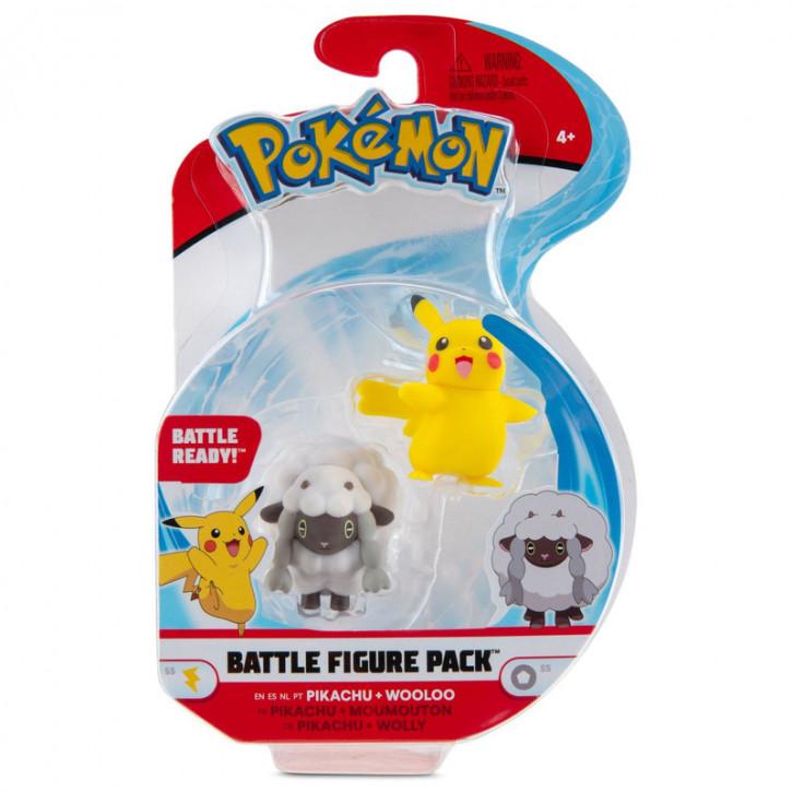 Pokemon Battle Figure Pack - Wolly & Pikachu