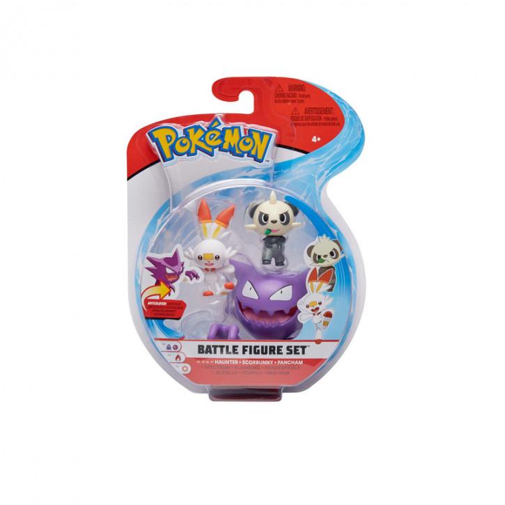 Pokemon Battle Figure Set - Alpollo, Hopplo und Pam-Pam