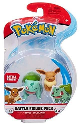 Pokemon Battle Figure Pack - Evoli und Bisasam