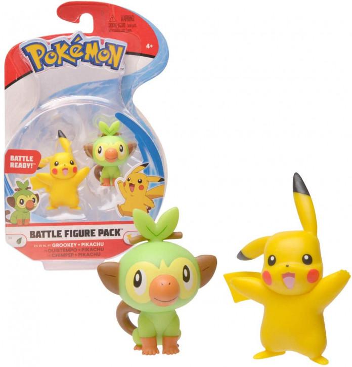 Pokemon Battle Figure Pack - Chimpep und Pikachu