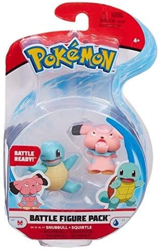 Pokemon Battle Figure Pack - Snubbull und Schiggy