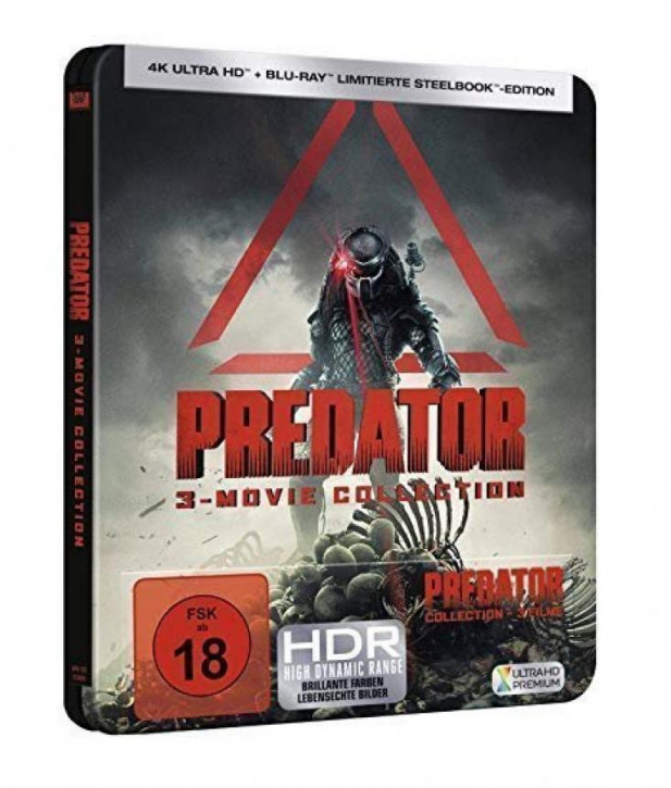 Predator - 3-Movie Collection Limited Steelbook Edition [4K UHD+Blu-ray]