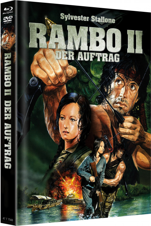 Rambo 2 - Limited Mediabook - Cover B [Blu-ray+DVD]