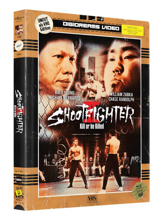 Shootfighter 2 - Limited Mediabook VHS Edition [Blu-ray+DVD]