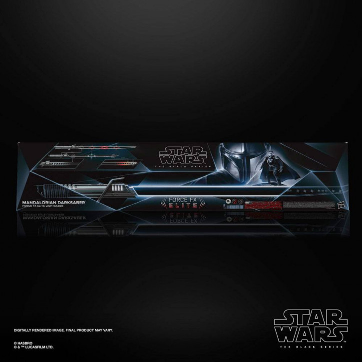 Star Wars The Mandalorian - Black Series Replik 1/1 Force FX Elite Lichtschwert Mandalorian Darksaber