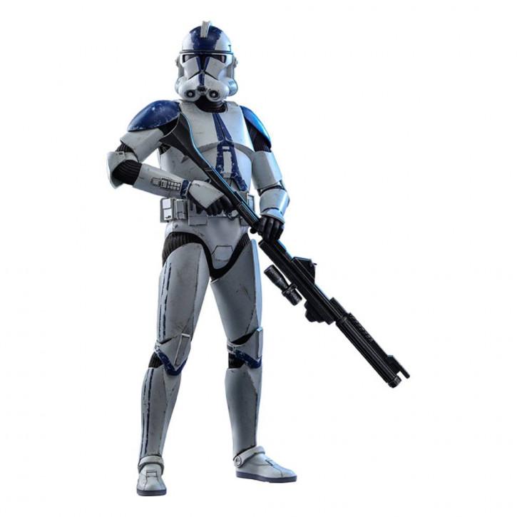 Star Wars The Clone Wars Actionfigur 1/6 - 501st Battalion Clone Trooper