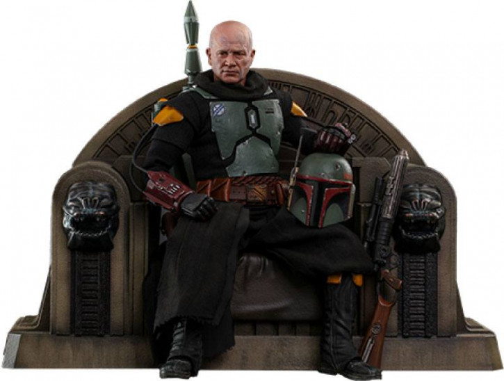 Star Wars The Mandalorian Actionfigur 1/6 - Boba Fett (Repaint Armor) and Throne