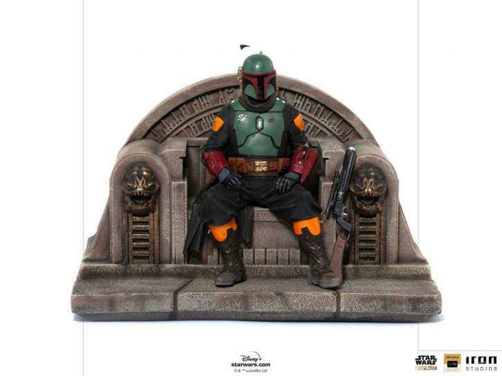 Star Wars The Mandalorian Deluxe Art Scale Statue - Boba Fett on Throne