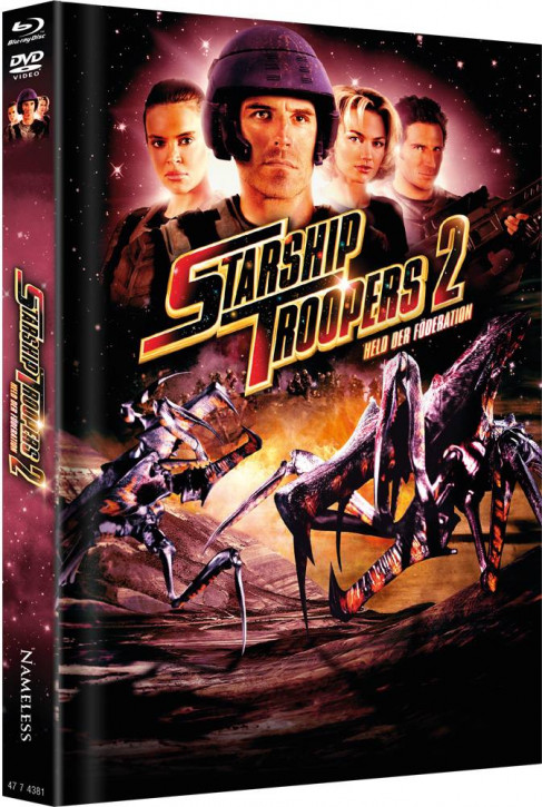 Starship Troopers 2 - Limited Mediabook Edition - Cover C [Blu-ray+DVD]