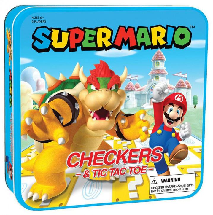 Super Mario - Dame & Tic-Tac-Toe