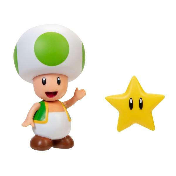 Super Mario Figur - Green Toad mit Stern
