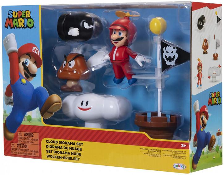 Super Mario - Wolken Welt Diorama