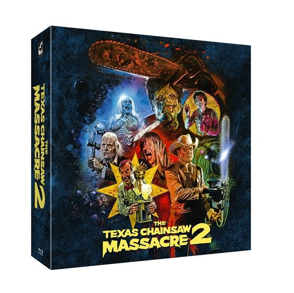 Texas Chainsaw Massacre 2 - Limited Collector's Box - Mediabook (Leatherface-Figur) (T-Shirt in XL) [Blu-ray]