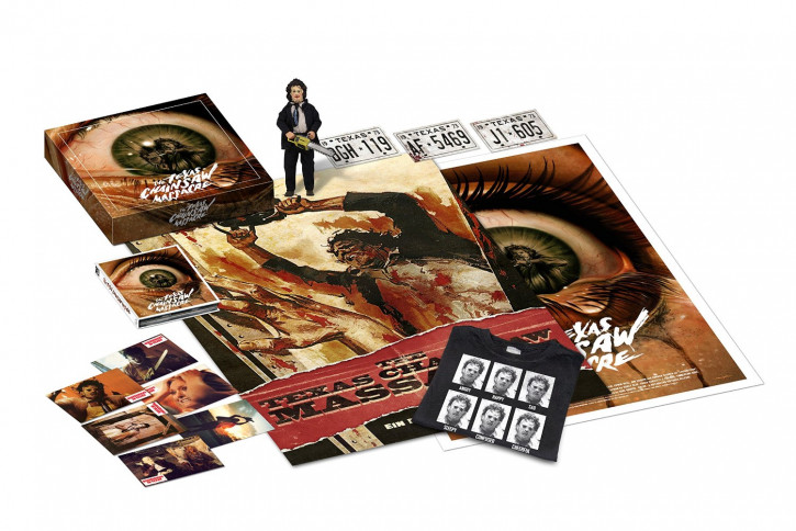 Texas Chainsaw Massacre - Limited Collector's Box 2015 - Mediabook (+ Bonus Blu-Ray) (Mastered in 4K) (Leatherface-Figur) (T-Shirt in XL) [Blu-ray]