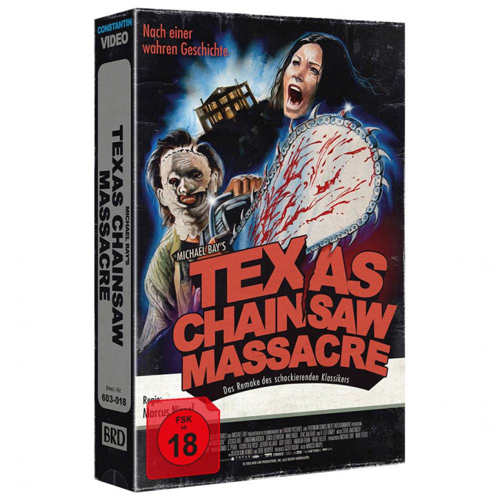 Michael Bays - Texas Chainsaw Massacre - Limited Collectors Edition im VHS-Design - Cover A [Blu-ray]