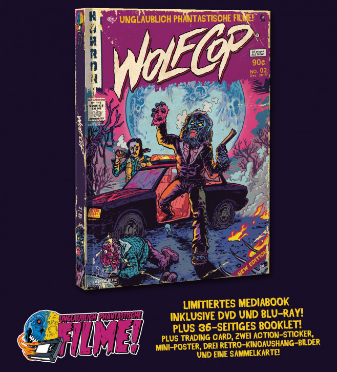 Wolfcop - Limited Mediabook Edition (Unglaublich Phantastische Filme-Collection #2) [Blu-ray+DVD]