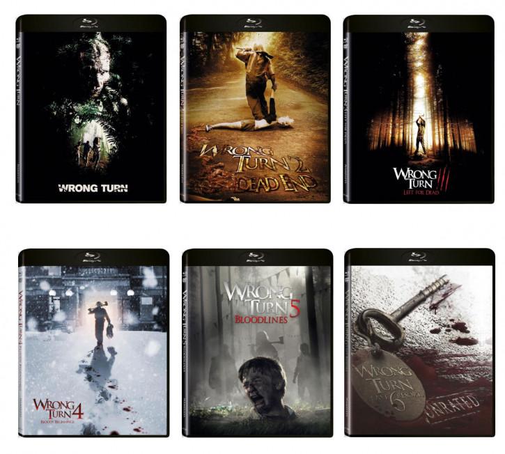 Wrong Turn 1-6 [Blu-ray+DVD]
