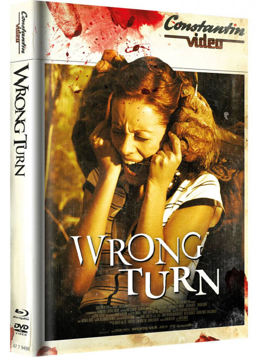 Wrong Turn 1 - Limited Mediabook Edition - Retro Cover [Blu-ray+DVD]